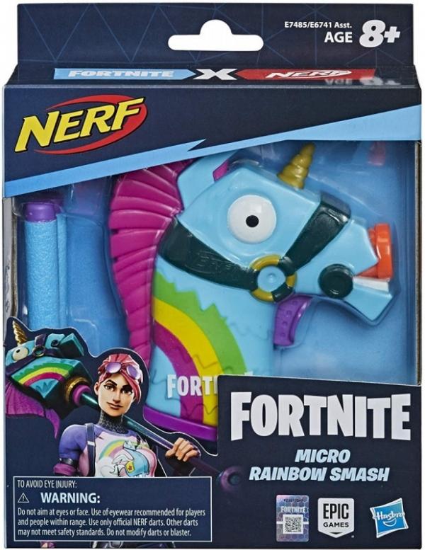 Mini wyrzutnia Nerf MS FN Rainbow Smash (E7485)