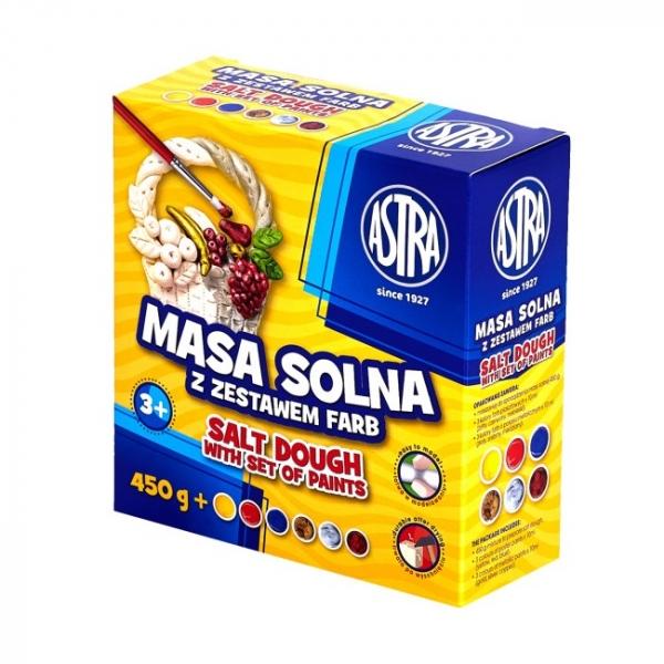 Masa solna Astra 0,45kg + Farby, 6 kolorów (324109001)