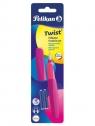 Pióro wieczne Pelikan Twist P457 M Neon Plum +2 naboje