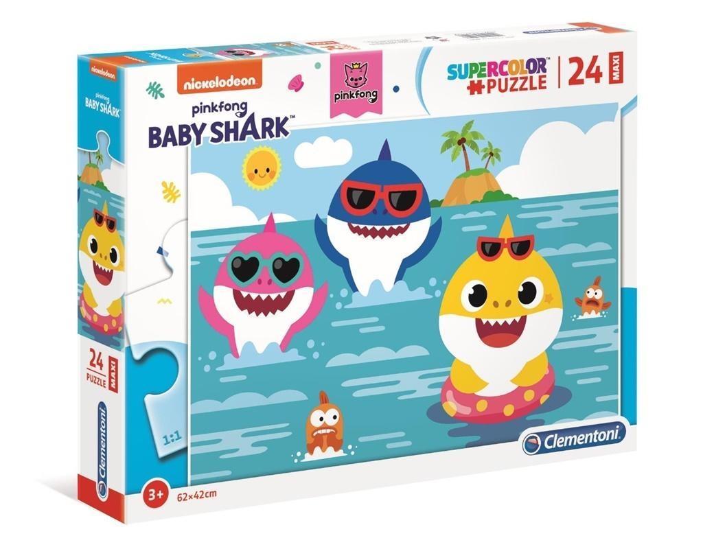 Puzzle Maxi SuperColor 24: Baby Shark (28519)