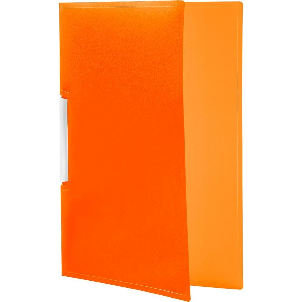Skoroszyt Tetis PP zaciskowy A4, 12 szt. - pomarańczowy (BT620-P)