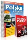 Polska atlas samochodowy 1:250 000 + Pierwsza pomoc - krok po kroku - ilustrowana instrukcja