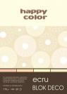 Blok Deco Ecru A4 - 20 arkuszy, 4 kolory