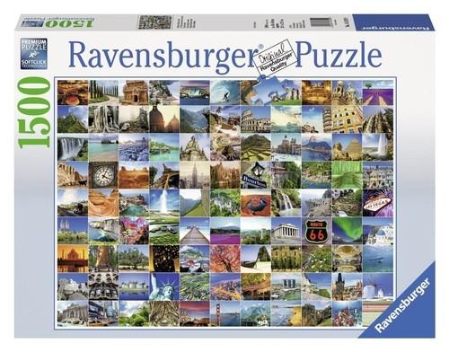 Puzzle 99 pięknych miejsc na Ziemi 1500 (RAP163199)