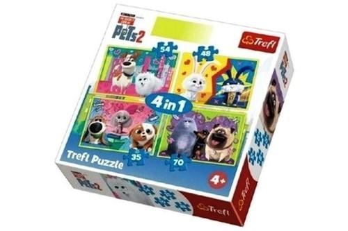 Puzzle 4w1 Sekretne życie zwierzaków domowych 2 (34319)