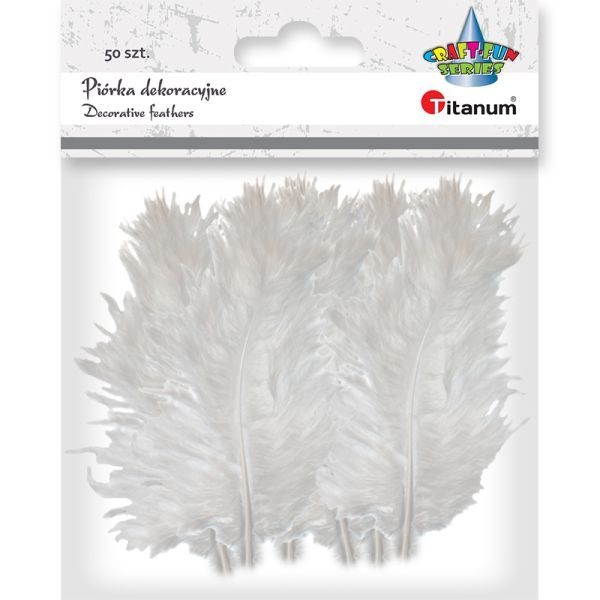 Piórka dekoracyjne białe (396529)