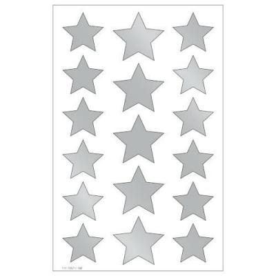 Naklejki Gwiazdki srebrne