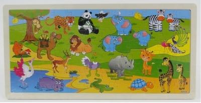 Układanka Puzzle Zwierzaki 45x22x0,5cm