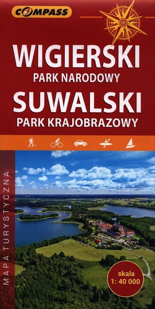 Wigierski Park Narodowy Suwalski Park Krajobrazowy mapa turystyczna 1:40 000