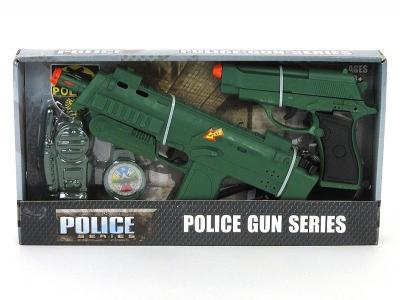 Pistolet Adar zestaw policyjny, 2 pistolety na baterie, akcesoria (511200)
