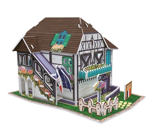 Puzzle 3D: Domki świata - Francja, Flower Shop (306-23120)