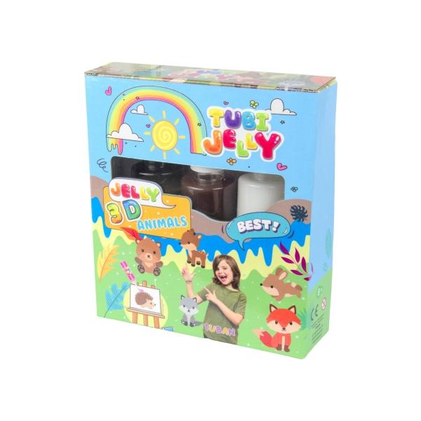 Zestaw Tubi Jelly 3 kolory - Zwierzątka (TU3320)