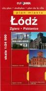 Łódź Zgierz Pabianice plan miasta