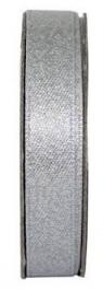 Tasiemka satynowa z brokatem 3m Soft Silver