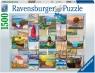 Ravensburger, Puzzle 1500: Kolaż wybrzeża (168200)