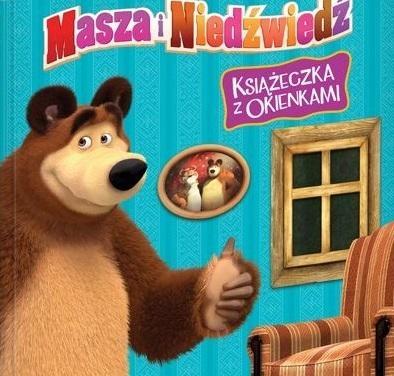 Masza i Niedźwiedź. Książeczka z okienkami praca zbiorowa