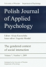 Polish Journal of Applied Psychology