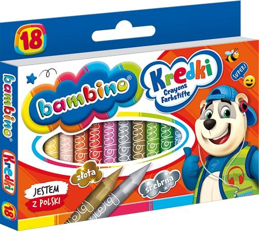 Kredki świecowe Bambino, 18 kolorów (STM-00201)