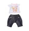 Ubranko dla lalki Baby born Deluxe Outfits z dźwiękiem piesek