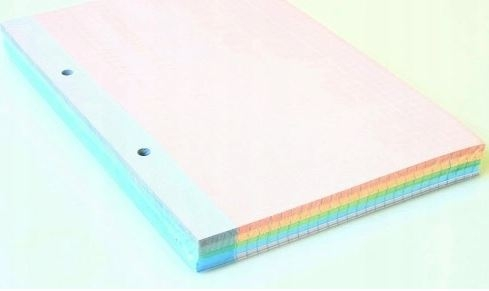 Wkład do segregatora A5 kolor kratka