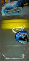 Kubek niekapek Bambino żółty