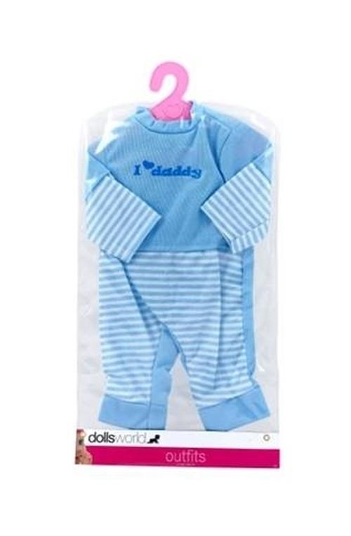 Ubranko dla lalki deluxe fashion boutique niebieskie 41 cm
