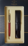 Zestaw upominkowy Parker: Długopis Parker Jotter czerwony + Etui Pagani (S0825200)