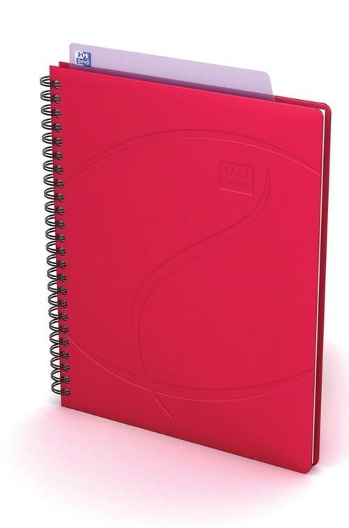 Kołonotatnik Oxford A5 60 kartek w kratkę Beauty Daybook czerwony