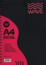 Kołozeszyt A4 Wave w kratkę 120 kartek różowy