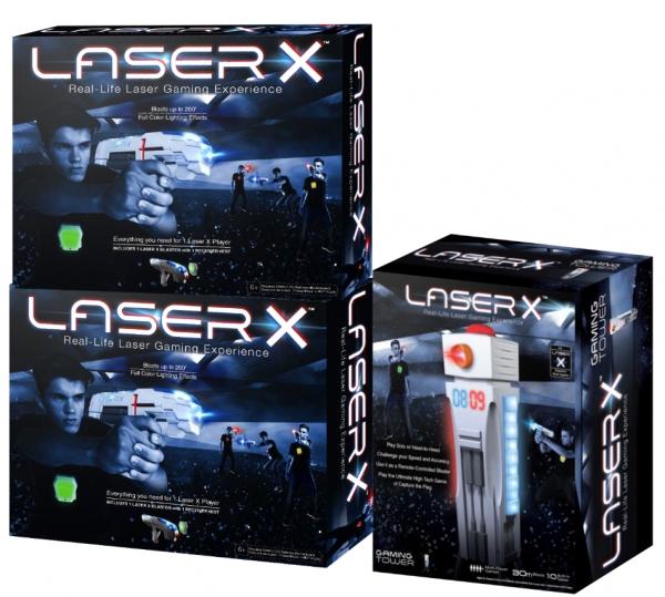 Zestaw Laser X: dwa pistolety + Gaming Tower (LAS88016/LAS88033)