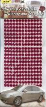 Kryształki samoprzylepne ozdobne 260 sztuk malinowe