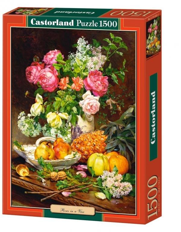 Puzzle 1500 Copy of Roses in a Vase (151202) praca zbiorowa