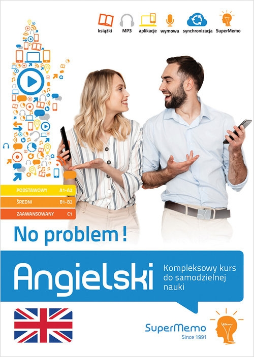 Angielski No problem! Kompleksowy kurs A1 - C1 do samodzielnej nauki (poziom podstawowy, średni Krzyżanowski Henryk