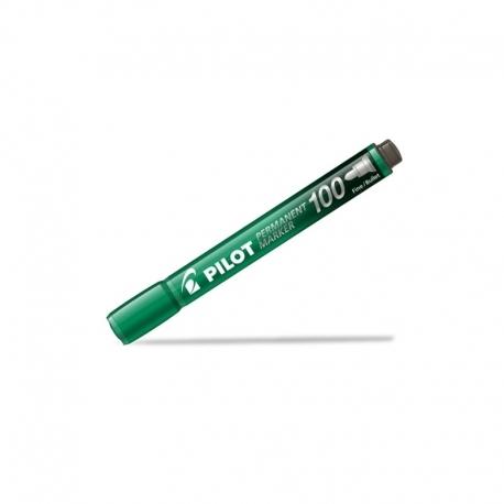 Marker permanentny z szybkoschnącym tuszem Pilot SCA-400 ścięty zielony (SCA-400-G)