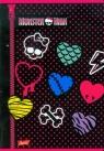 Zeszyt A5 Monster High w kratkę 60 stron serca