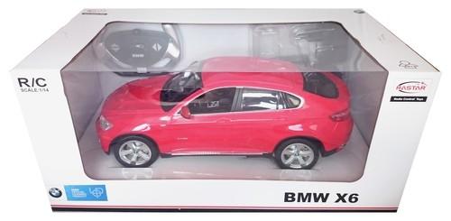 BMW X6  zdalnie sterowane 1:14 czerwone