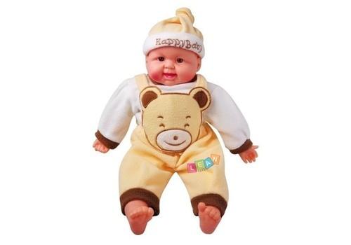 Lalka bobas niemowlę w ubranku 50cm żółty