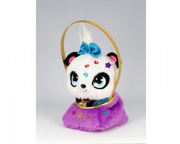 Shimmer Stars Błyskotki: Plusz z torebką – zestaw deluxe - Panda (03586)