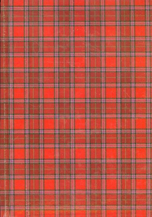Brulion A5 w kratkę 192 kartek szkocka krata czerwona