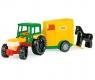 Traktor z przyczepą i koniem (35001)