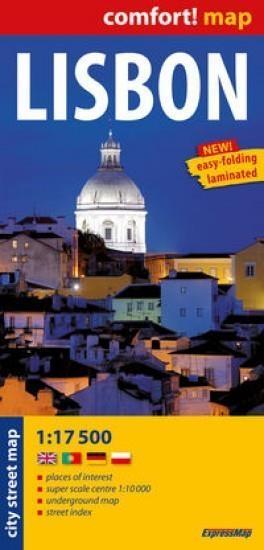 Lisbon laminowany plan miasta 1:17 500. - książka