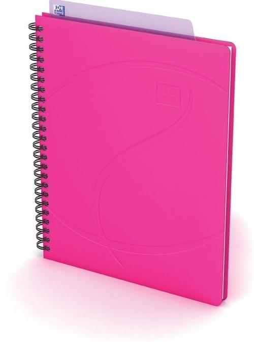 Kołonotatnik Oxford A5 60 kartek w kratkę Beauty Daybook  różowy