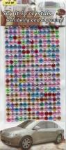 Kryształki samoprzylepne ozdobne 260 sztuk wielokolorowe
