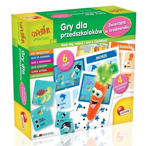 Carotina Gry dla przedszkolaków - Zwierzęta w środowisku (PL61204)