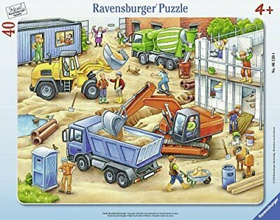 Puzzle ramkowe 40: Wielkie pojazdy budowlane (6120)