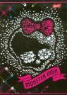 Zeszyt A5 Monster High w kratkę 60 kartek okładka laminowana Czacha z sercem