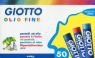 Kredki pastelowe olejne Giotto Olio Fine - 50 kolorów (294200)