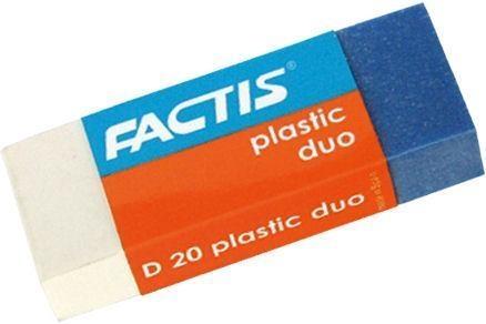 Gumki D-20 dwukolorowe DUO (20szt) FACTIS