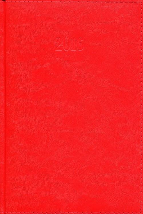 Kalendarz 2016 Książkowy dzienny A5 Lux czerwony