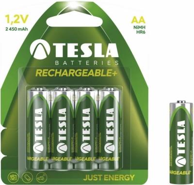 Akumulator Tesla AA Green+ HR6 4 sztuki na blistrze .